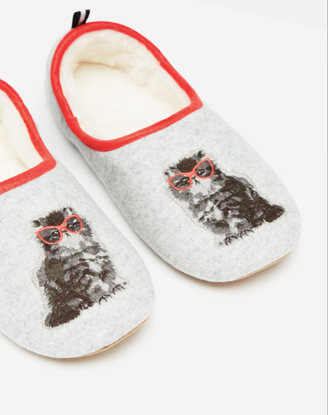 Joules Cat Slippers 209779