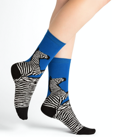 Bleuforêt Zebra Cotton Socks 6255