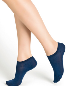 Bleuforêt Mercerised Cotton Low-Cut Socks 6757