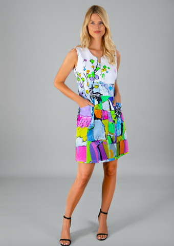 Dolcezza Floral and Abstract Dress 21666