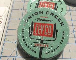 Onion Creek Fly Company Logo Sticker