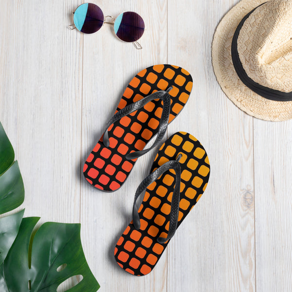 Hot Squares Casual Flip-Flops