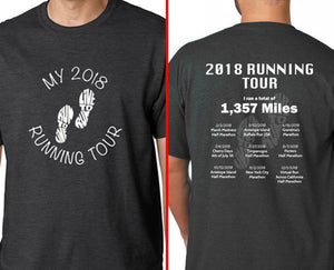 2018 Running Tour Customized T-Shirt 2XL/3XL