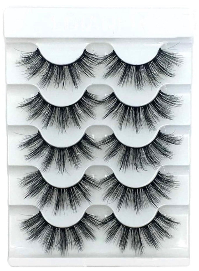 5 pairs of vegan lashes