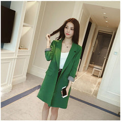 Single One Button Long Blazer Jacket Women - buydressonline