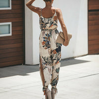 Summer Women Holiday Casual Sleeveless Jumpsuits