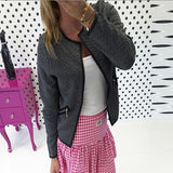 Big Yard Autumn Plaid Women Thin Coats Short Jacket