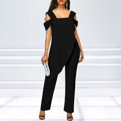Women's Fashion High Waist Slim Sleeveless Jumpsuits - buydressonline
