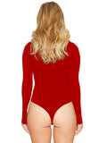 New Womens casual Sexy Long Sleeve Siamese Bottoming Bodysuit