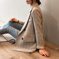 New Blazer Slim Korean Restore Plaid Suit