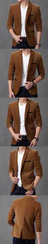 British's Style Casual Slim Fit Suit Jacket Male Blazers