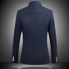 Mens Vintage Blazer Coats Chinese Style Business Dress Blazers - buydressonline