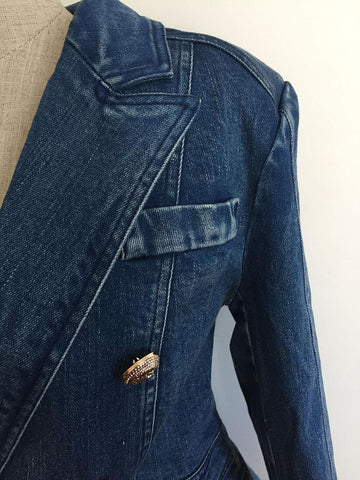 New Fashion 2019 Designer Blazer Women's Metal Lion Buttons - buydressonline