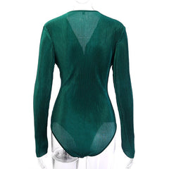 New Fashion Green Shirts Button Tops Elegant Playsuits - buydressonline