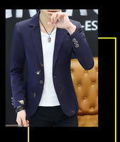 Blazer Men Fashion Casual Spring Print blazer