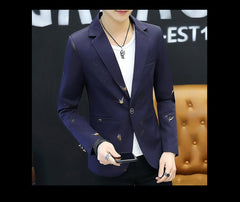 Blazer Men Fashion Casual Spring Print blazer - buydressonline