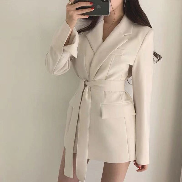 Women Blazers and Jackets White Korean Women's Blazer
