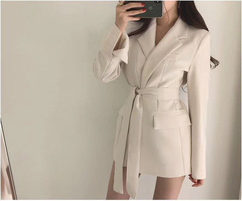Women Blazers and Jackets White Korean Women's Blazer - buydressonline