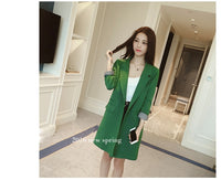 Single One Button Long Blazer Jacket Women