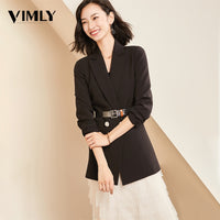 Women Chic Solid Blazer Elegant Office Suit