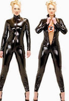 Women Body Suits Fetish Leather clothe