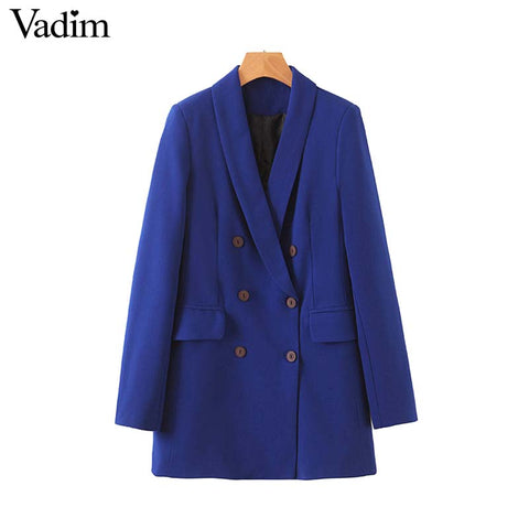 Women formal blue blazer - buydressonline