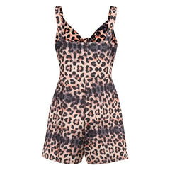 Women's Summer Print Jumpsuit Shorts Casual Loose Short Sleeve Rompers