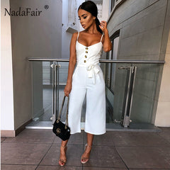 Elegant Bandage Plus Size Black White Jumpsuit - buydressonline