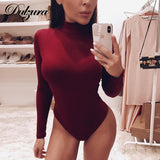 Cotton long sleeve women sexy bodysuit