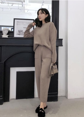 Knitted 2 pieces Set Tracksuits - buydressonline