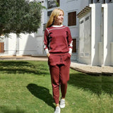 Buy Woman Sweater Suits Knit Casual Tracksuits