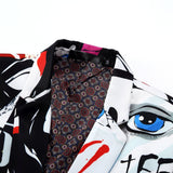 New Tide Mens Fashion Print Blazer Design