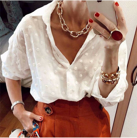 New women Fashion and Blouses Long Sleeve of 2020