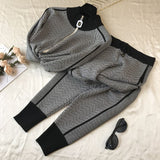 Buy New Tracksuit Woman | 2PCS Sets Long Sleeve Knit Top Trouser