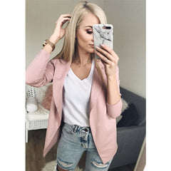 Casual Long Sleeve Blazer Feminino Women Blazers - buydressonline