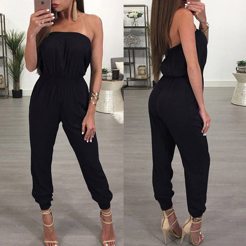 Womens Bandage Evening Party Playsuit and Solid Off Shoulder Jumpsuits - buydressonline