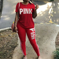 Women Two Piece Set | Summer Pink Tracksuits | Buy Women Tracksuits
