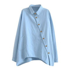 New women Shirtsl Fashion Solid Color Long Sleeve Women Blouses