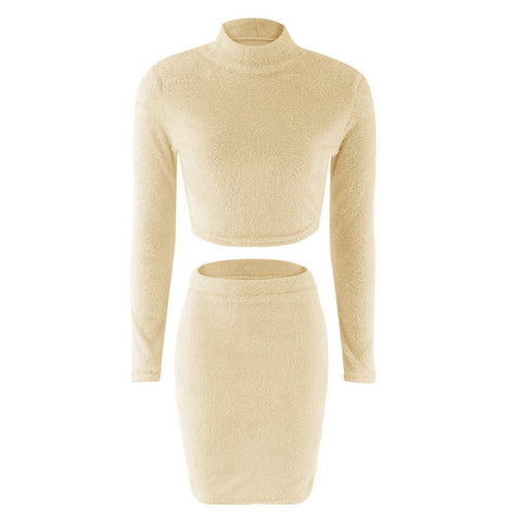 Two Piece Set Women Sweater +Pencil Skirt Suit
