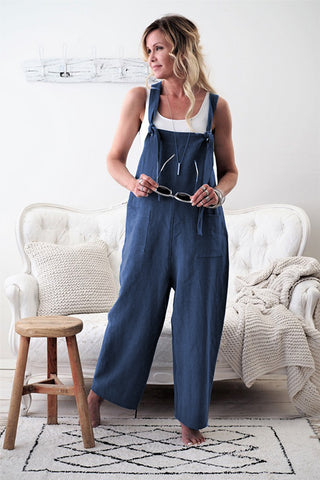 Summer  Cotton Linen High Quality Jumpsuit - buydressonline