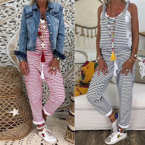 Summer Outfits Women Dungarees Harem Strap Long Pant Jumpsuits - buydressonline
