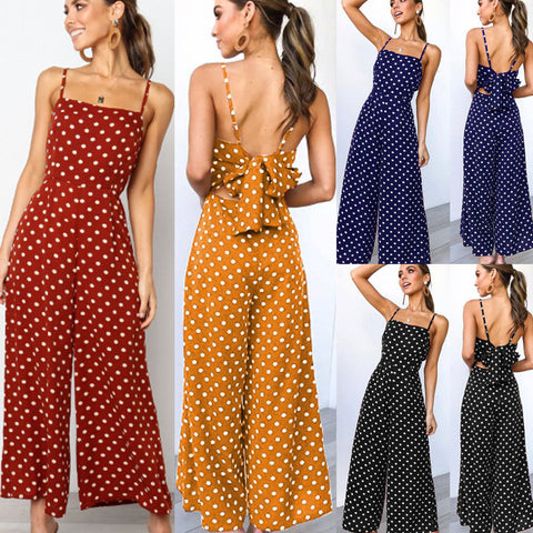 Women  jumpsuits Sleeveless Loose Trousers Wide Leg Pants Rompers