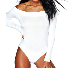 Women Off Shoulder Long Sleeve  Bodysuit - buydressonline