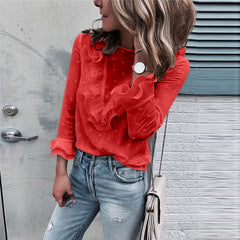 Women Blouse new White Shirt of 2020 spring