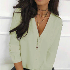 Women v Neck Blouse and Long Sleeve Button  Shirts 2020 - buydressonline