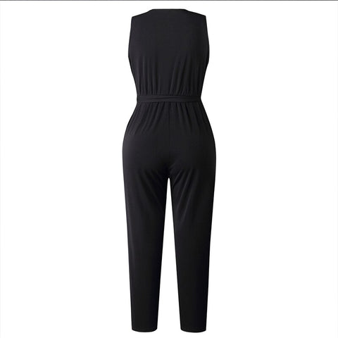 Women Black Jumpsuits Fashion Female Pants