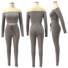 Women Tracksuit Bodycon Long Pants Women Suits - buydressonline