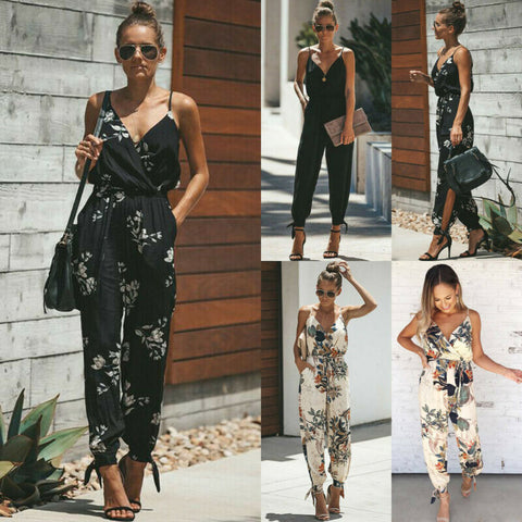 Casual Women Sleeveless Solid Romper and Jumpsuit - buydressonline