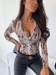 Long Sleeve Blouse Body Women Satin Romper  Overalls For Women - buydressonline