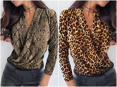 NEW modal of V neck office blouses shirts of 2020